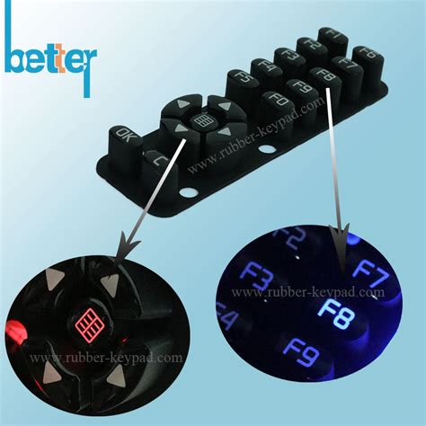 laser cut rubber st customize plastic rubber silicone laser cut keypad from