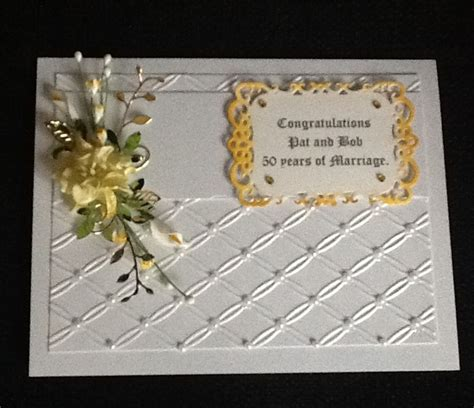 golden wedding cards to make 1000 images about anniversary cards on mo