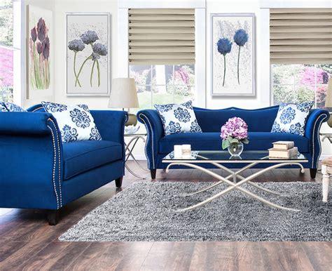 royal blue living room modern house