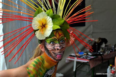 swiss painting festival 2013 eye catching bodypainting 1 chinadaily cn