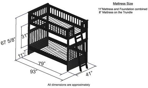 dimensions of bunk beds discovery world furniture espresso bunk