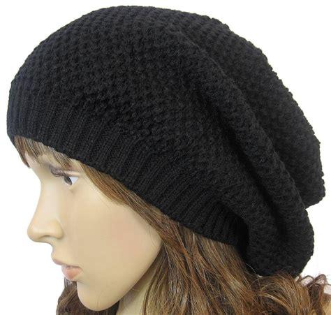 knit baggy beanie winter slouchy baggy knit crochet beanie