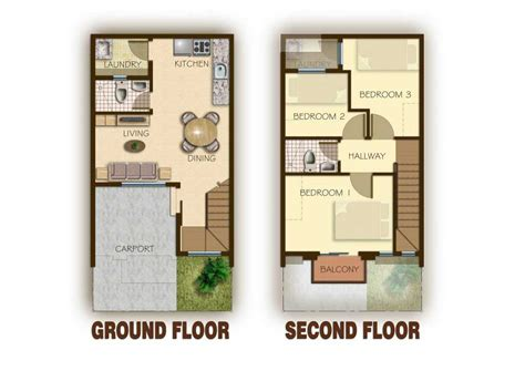 two storey house design and floor plan ideas of 2 storey modern house designs and floor plans