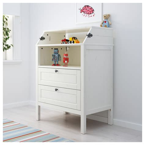 baby changing table ikea sundvik changing table chest of drawers white ikea
