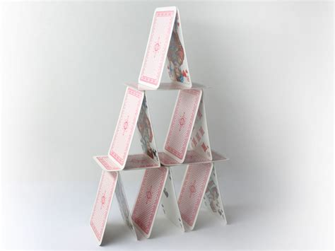 how to make a house out of cards how to build a tower of cards 7 steps with pictures