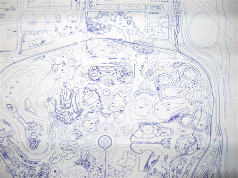 blueprint layout disneyland park layout blueprints