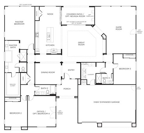 floor plans for homes one story the best single story floor plans one story house plans pardee homes ideas