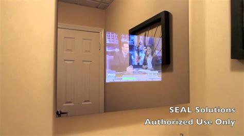 tv in mirror bathroom seal solutions bathroom mirror tv
