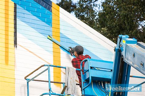 spray painter penrith mural turns heads at nepean high the western weekender