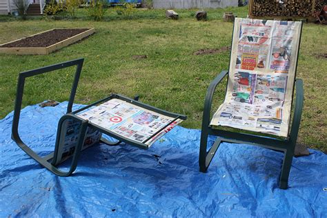 spray painting outdoor wood furniture refurbish outdoor furniture with spray paint like new 1