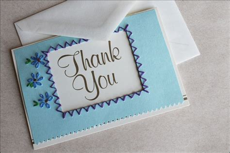 thank you card ideas for to make recent card embroidered thank you cards diy