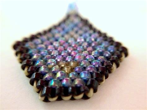 learn how to bead american learn beadweaving brickstitch with a beaded earring