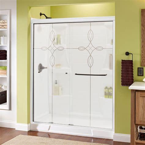 sliding shower doors home depot delta crestfield 60 in x 70 in semi frameless sliding