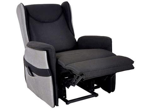 fauteuil relaxation 233 lectrique en tissu smooth coloris noir gris vente de tous les fauteuils