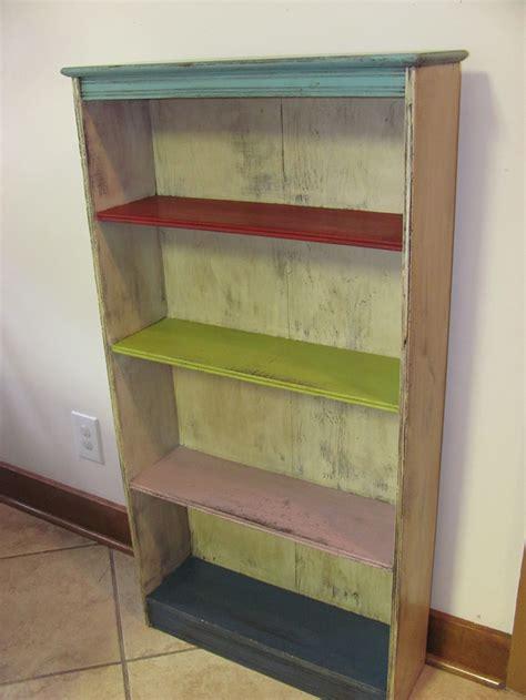 chalk paint bookshelf furniture