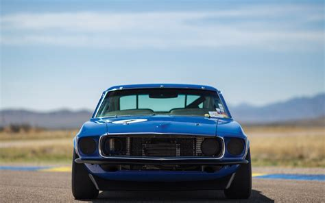Car Wallpaper Front View by Ford Mustang 1969 Car Front View 4k Ultra Hd Wallpaper