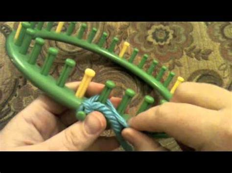 how to cast on a knitting loom the knifty knitter drawstring cast on