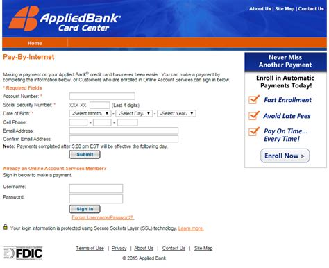 can i make payments on my credit card payments applied bank