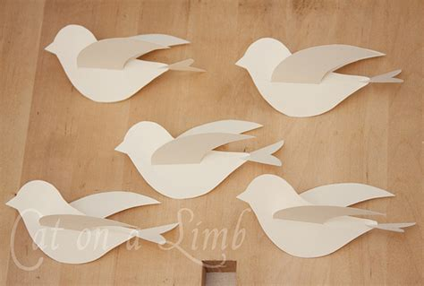 paper bird craft template cat on a limb paper string and branches bird mobile