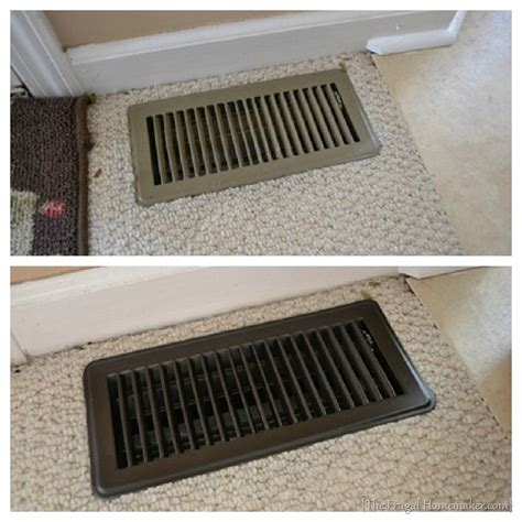 spray painting near furnace update your vent covers with spray paint