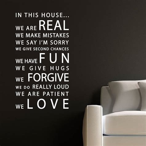 in this house wall sticker in this house wall sticker by parkins interiors