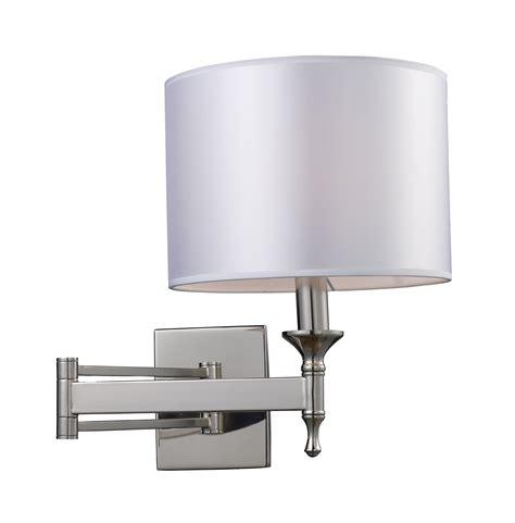 bedroom wall sconces lighting elk lighting 10160 1 pembroke swing arm wall sconce