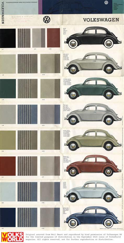 paint colors for vw beetle vw beetle colour charts volksworld