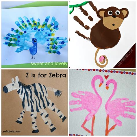 zoo crafts for zoo animal handprint crafts for crafty morning