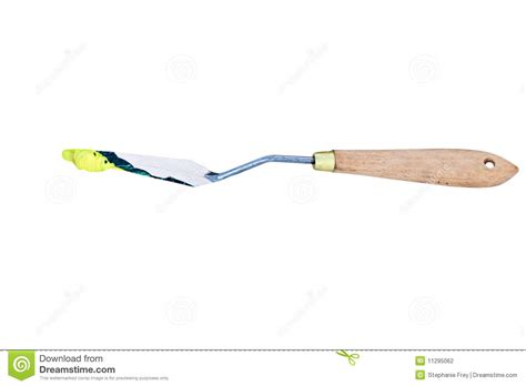 acrylic paint knife paint knife with paint stock photography image 11295062