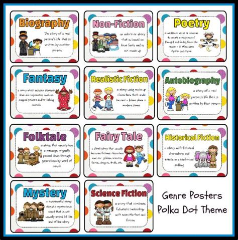 picture book genres 25 best ideas about free genre posters on