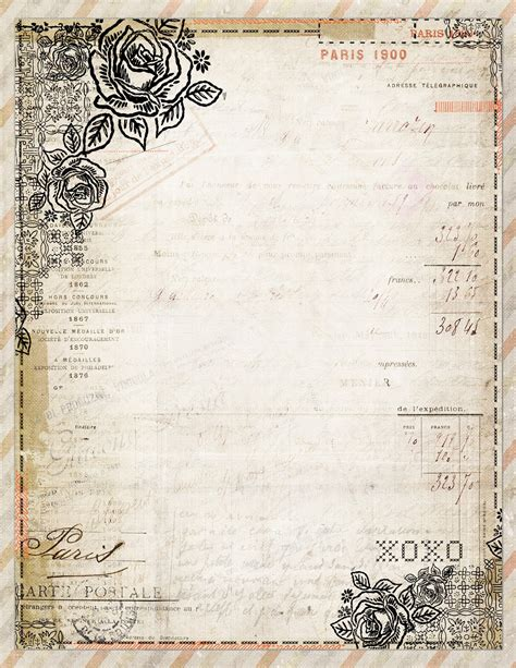 free papers for card free to printable vintage style