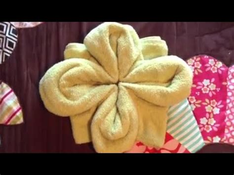 towel origami flower how to make a towel flower