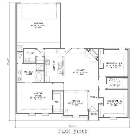 house plans with open floor plans open floor plan