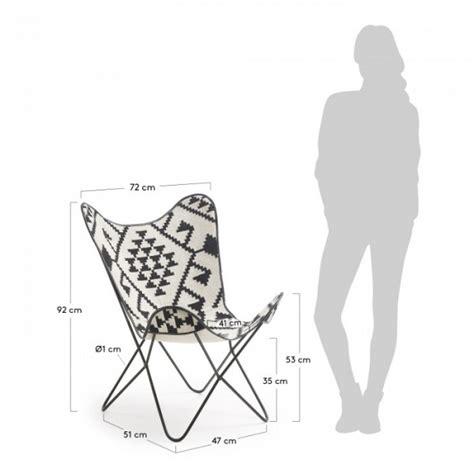 sillas butterfly silla dise 241 o butterfly blanco y negro