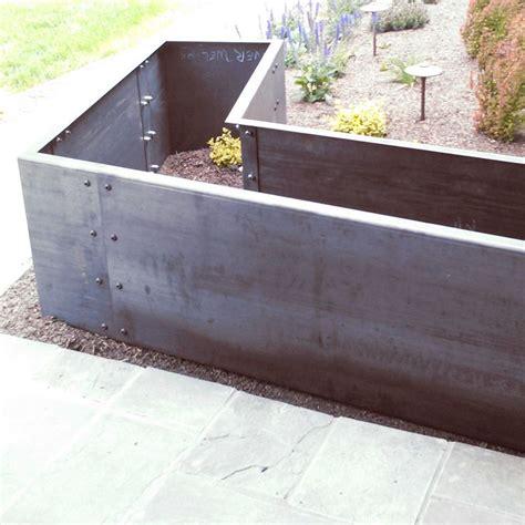 steel planter boxes 17 best ideas about corten steel planters on