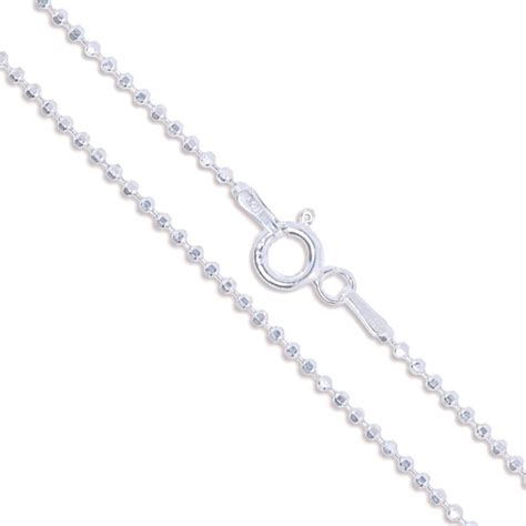 bead chain wholesale sterling silver necklace shiny italian bead chain