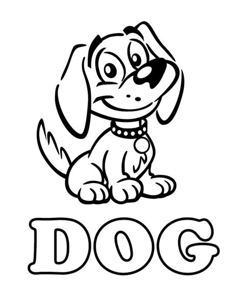 dog free printable coloring pages