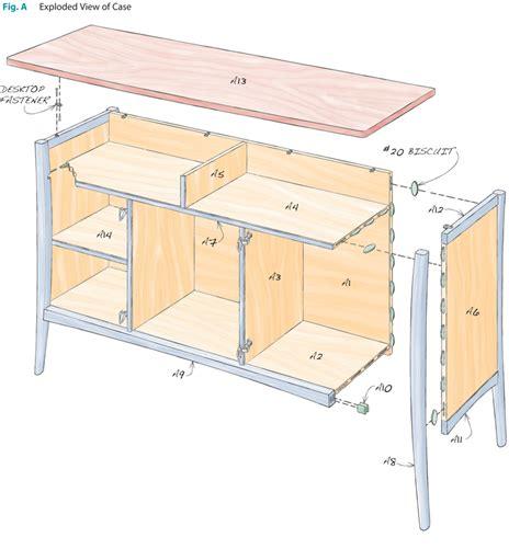 sideboard woodworking plans cherry sideboard popular woodworking magazine