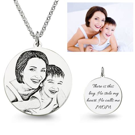 how to make engraved jewelry personalized photo engraved necklace best gift for