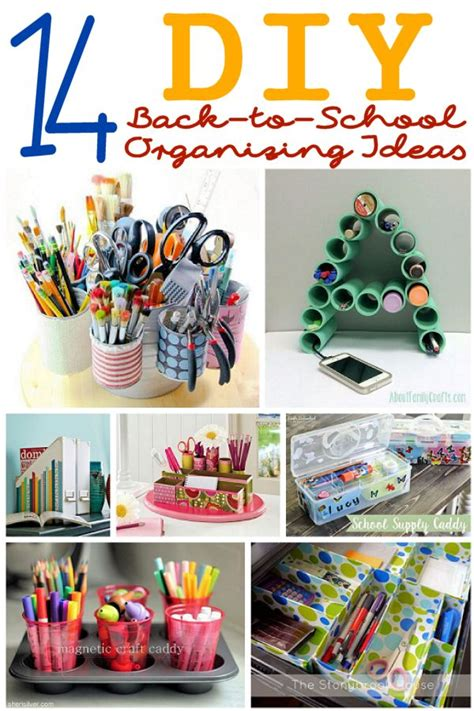 ideas for to make at school 14 diy organizing ideas for back to school about family