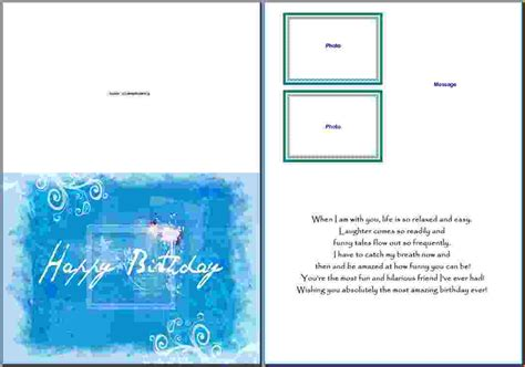 how to make a birthday card on microsoft word 10 microsoft word birthday card template pay stub template