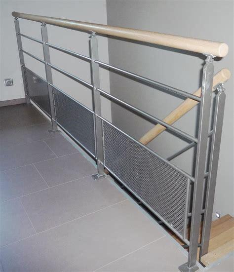 garde corps bois escalier mzaol