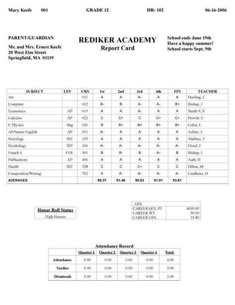 how to make a college report card report card fakereportcards