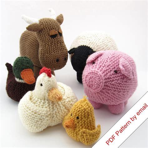 knitting patterns toys animals knitting patterns ebook farm animal toys quot around the