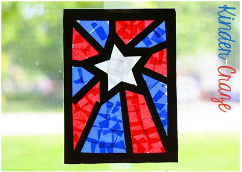 paper stained glass window craft patriotic craft window decorations a visual tutorial