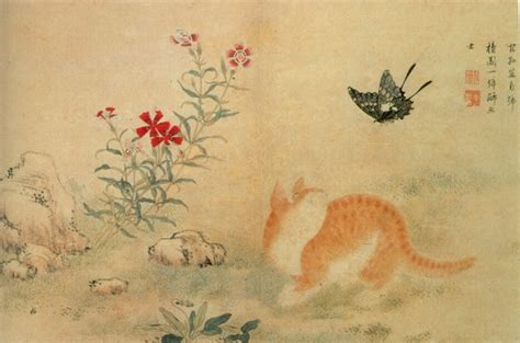 do cat painting cat butterfly by hong do