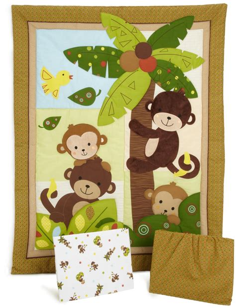 curly tails crib bedding bedtime originals curly tails monkey baby bedding and