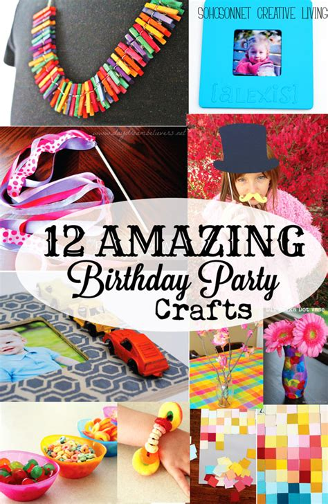 birthday craft ideas for 12 birthday craft activities for sohosonnet