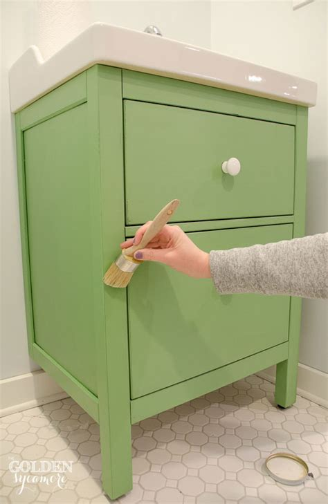 chalk paint sobre muebles ikea green ikea custom bathroom vanity the golden sycamore