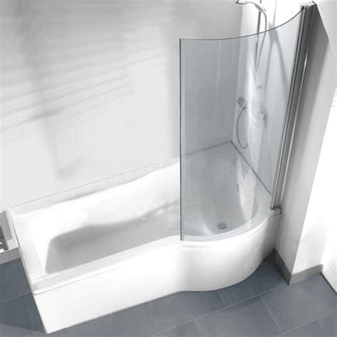 right shower bath p shaped shower bath pack with curved shower screen